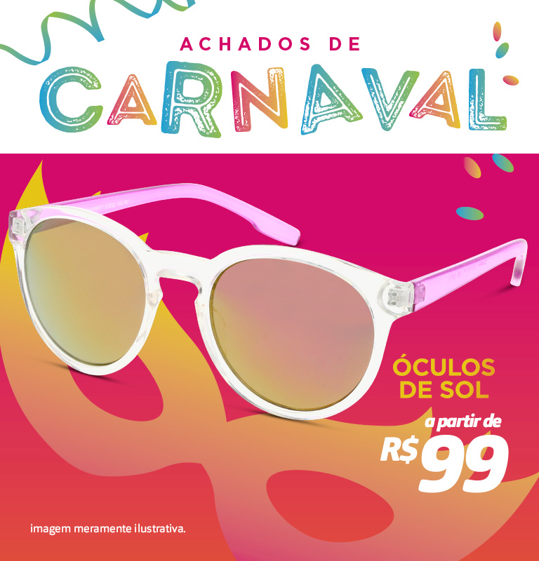 Banner - Carnaval achados oculos