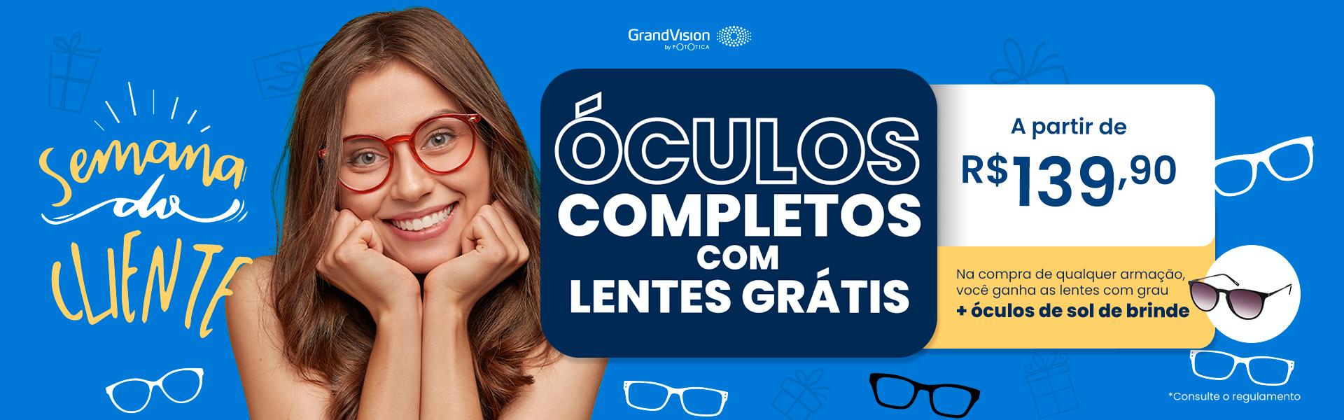 Oculos Completos com Lentes Gratis