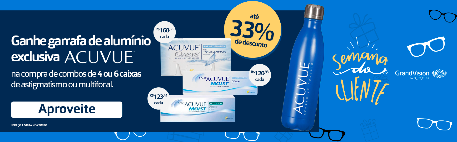 Promocao Acuvue com Garrafa de Brinde
